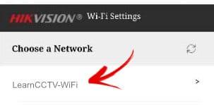 Escolha o sinal WiFi do seu roteador