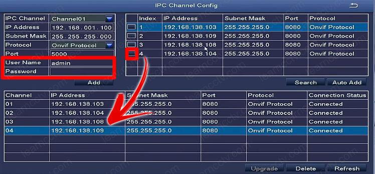 Zosi IPC Channel  encontra a câmera