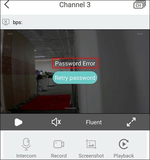 Zosi password error
