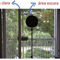 Área clara e área escura na imagem